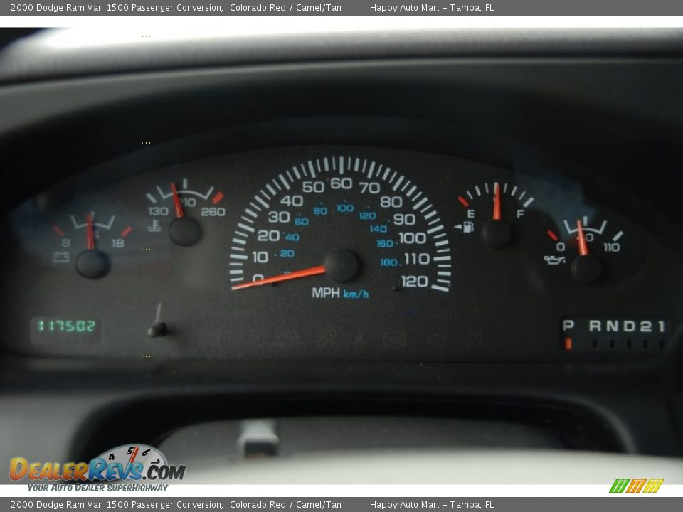 2000 Dodge Ram Van 1500 Passenger Conversion Gauges Photo