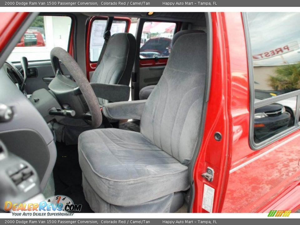 Camel Tan Interior 2000 Dodge Ram Van 1500 Passenger Conversion Photo 17