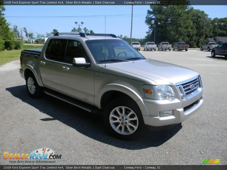 2008 ford explorer sport trac limited 4x4 silver birch metallic dark charcoal photo 3. Black Bedroom Furniture Sets. Home Design Ideas