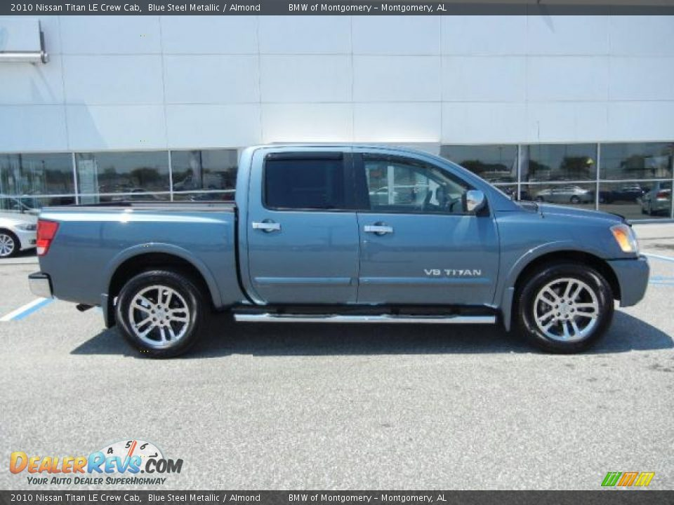 blue steel metallic 2010 nissan titan le crew cab photo 2. Black Bedroom Furniture Sets. Home Design Ideas