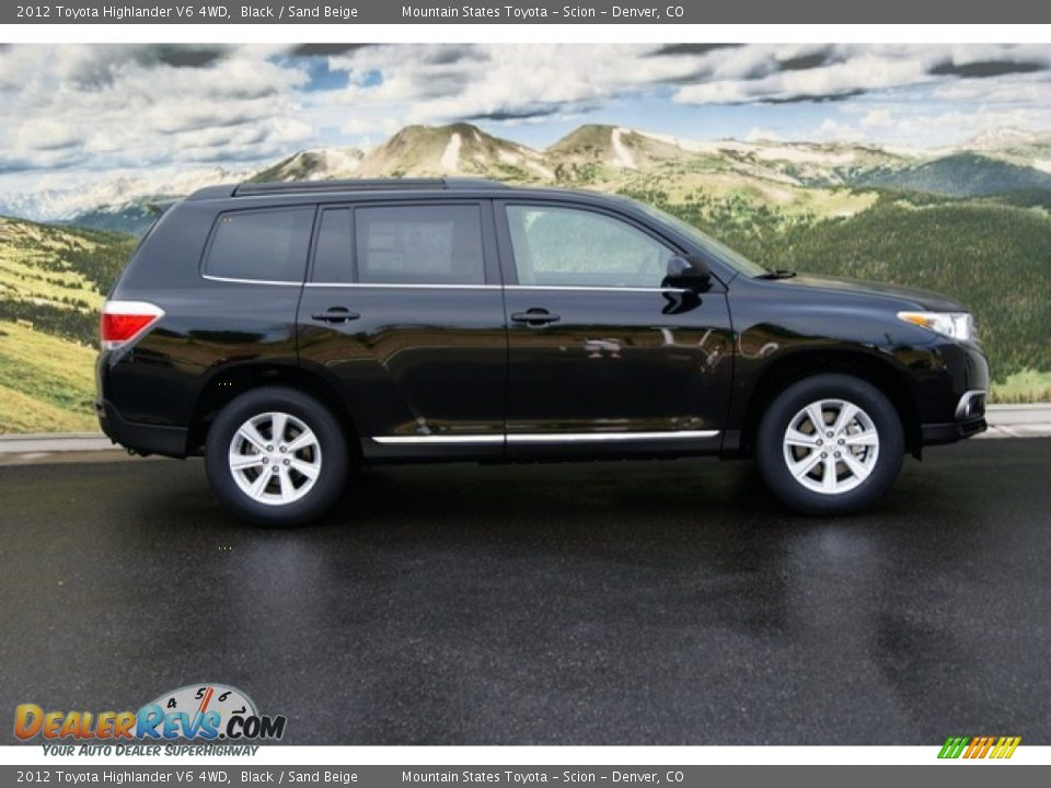 Black 2012 Toyota Highlander V6 4wd Photo 2 Dealerrevs Com