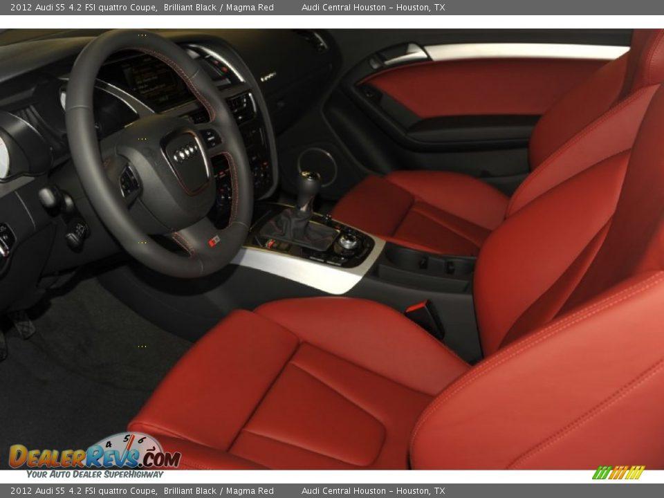 Magma Red Interior 2012 Audi S5 4 2 Fsi Quattro Coupe