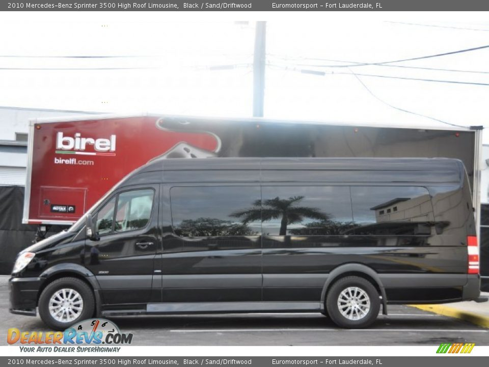 Black 2010 mercedes benz sprinter 3500 high roof limousine for Mercedes benz sprinter service