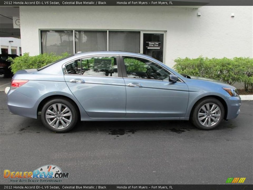 celestial blue metallic 2012 honda accord ex l v6 sedan photo 2. Black Bedroom Furniture Sets. Home Design Ideas