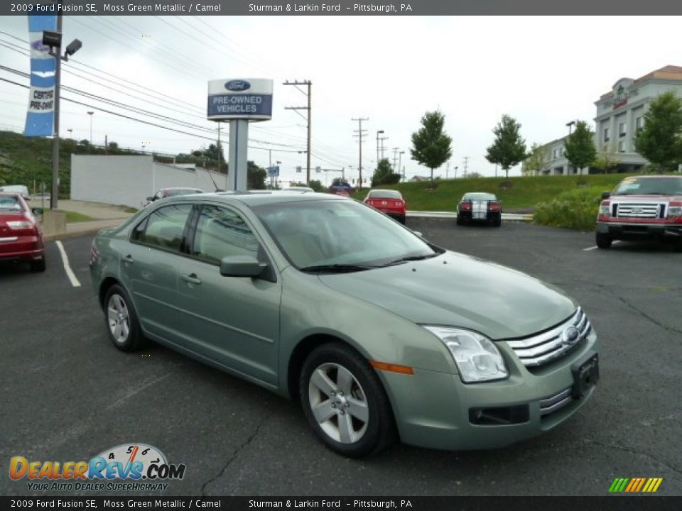 2009 Ford Fusion Se Moss Green Metallic Camel Photo 1
