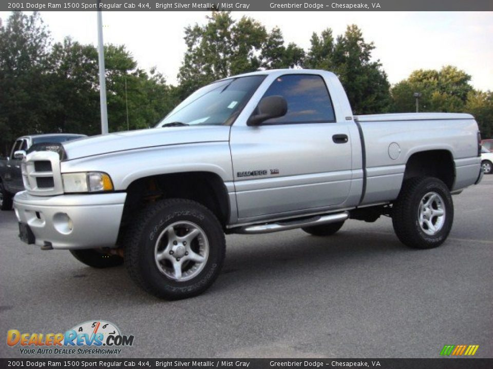 2001 dodge ram 1500 sport regular cab 4x4 bright silver metallic mist gray photo 2. Black Bedroom Furniture Sets. Home Design Ideas
