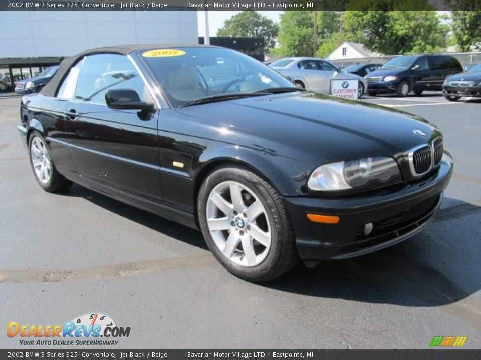 2002 bmw 3 series 325i convertible jet black beige photo. Black Bedroom Furniture Sets. Home Design Ideas