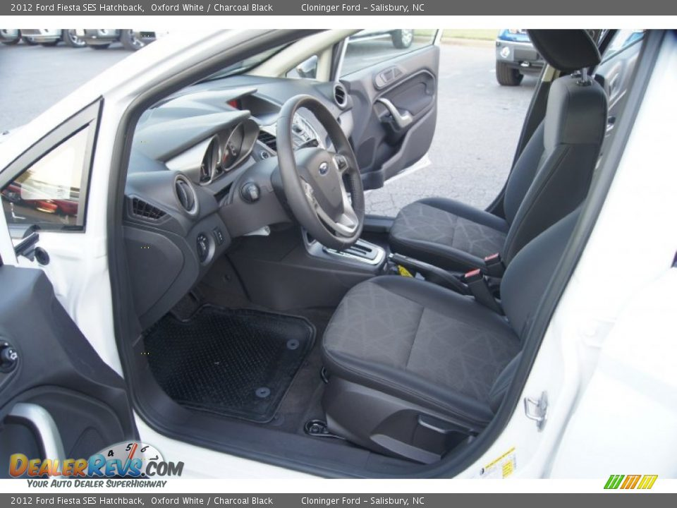Charcoal Black Interior 2012 Ford Fiesta Ses Hatchback Photo 8
