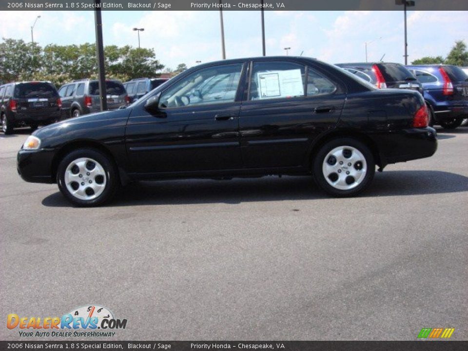 2006 nissan sentra 1 8 s special edition blackout sage photo 3. Black Bedroom Furniture Sets. Home Design Ideas
