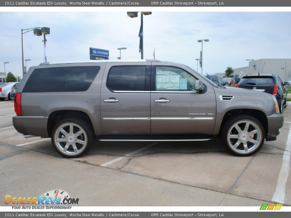 Mocha Steel Metallic 2011 Cadillac Escalade Esv Luxury