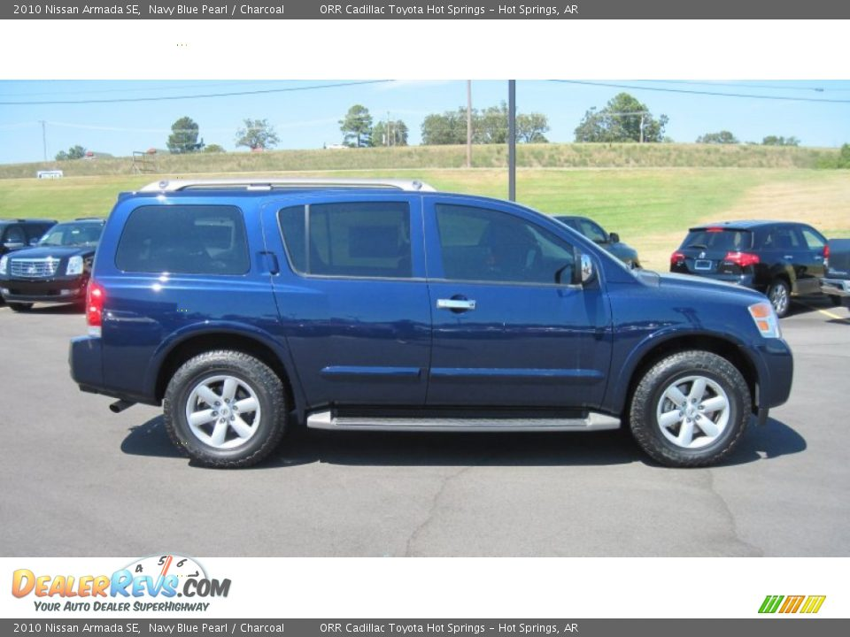 2010 Nissan Armada Se Navy Blue Pearl Charcoal Photo 6
