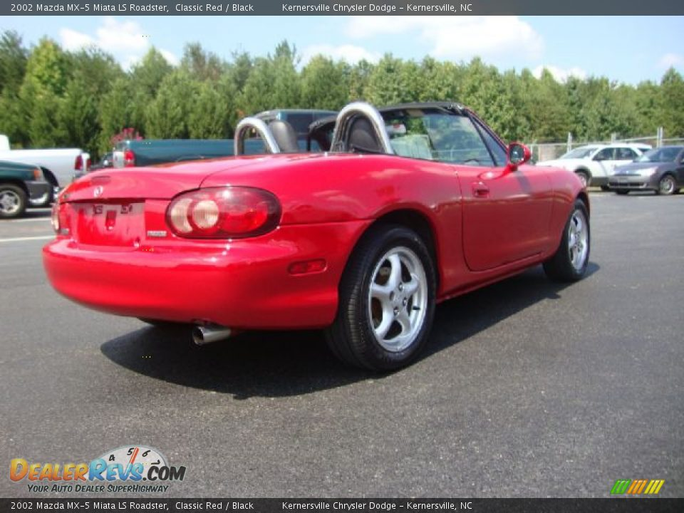 2002 mazda mx 5 miata ls roadster classic red black. Black Bedroom Furniture Sets. Home Design Ideas