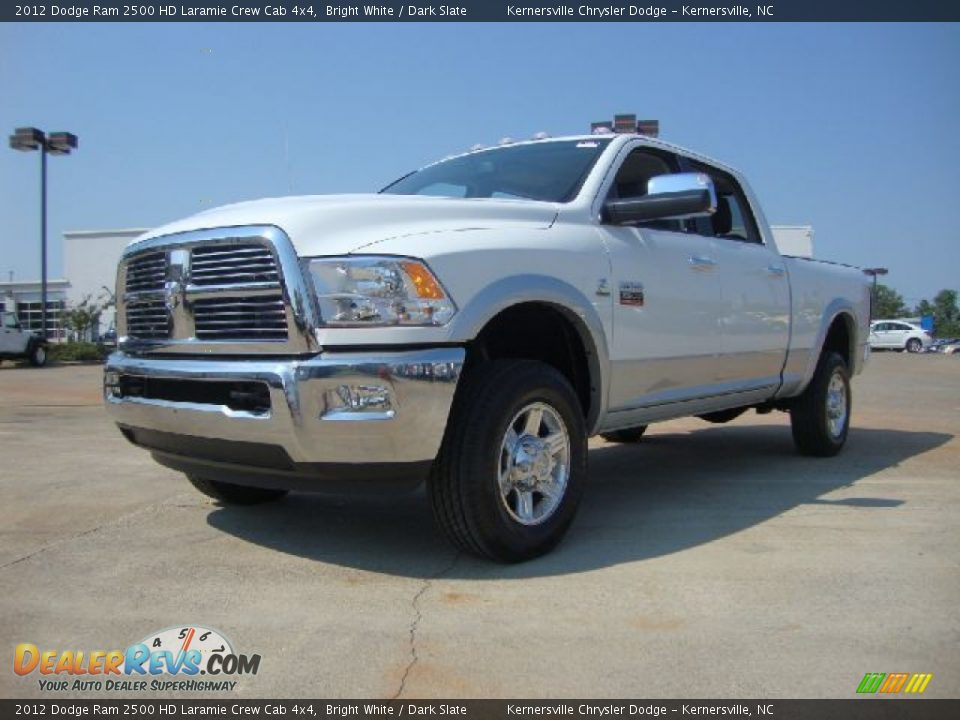 2012 dodge ram 2500 hd laramie crew cab 4x4 bright white dark slate photo 1. Black Bedroom Furniture Sets. Home Design Ideas