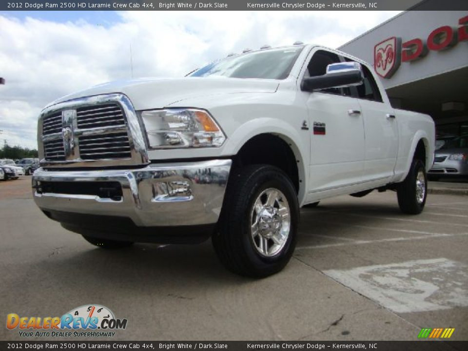 2012 dodge ram 2500 hd laramie crew cab 4x4 bright white dark slate photo 7. Black Bedroom Furniture Sets. Home Design Ideas