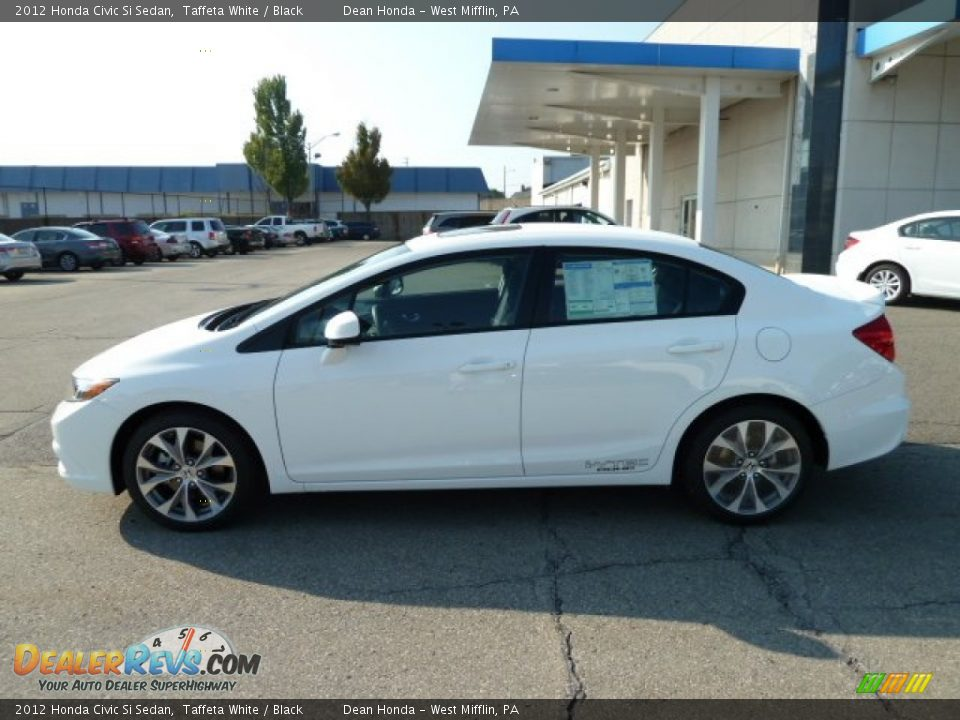 Taffeta white 2012 honda civic si sedan photo 2 for 2012 honda civic white