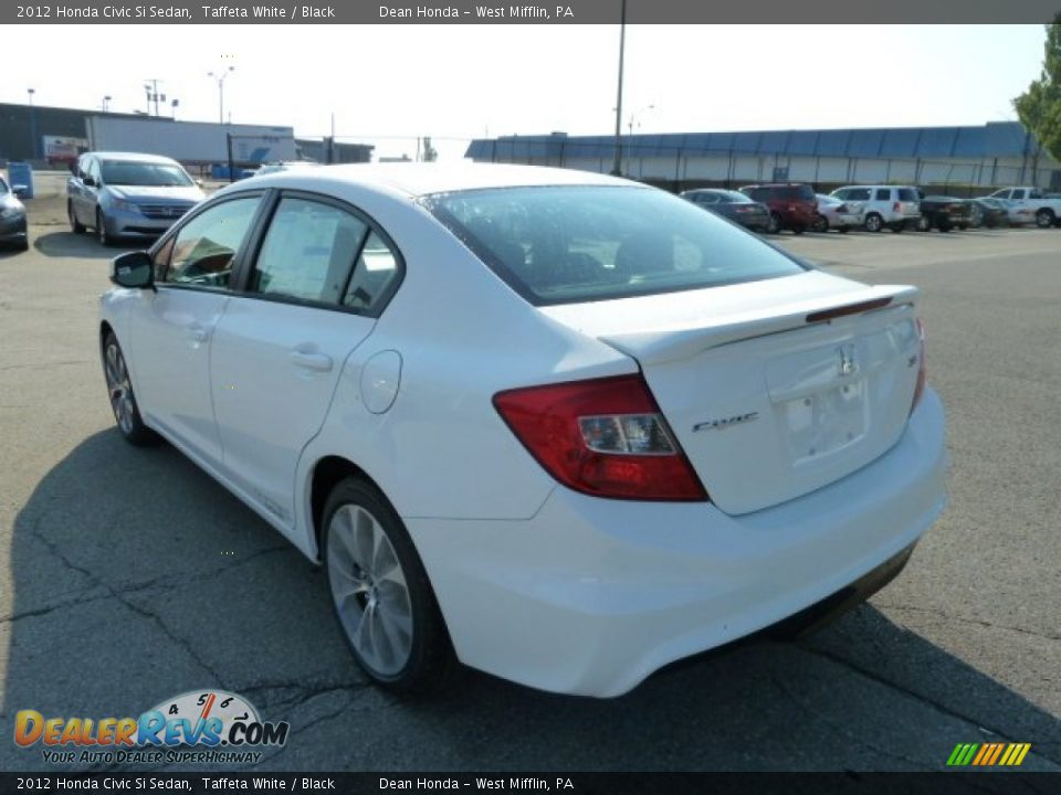 Taffeta white 2012 honda civic si sedan photo 3 for 2012 honda civic white
