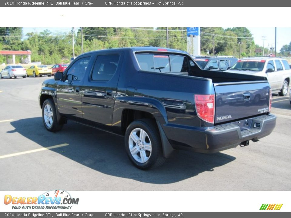 2010 Honda Ridgeline Rtl Bali Blue Pearl Gray Photo 3