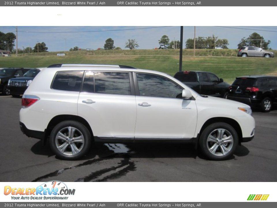 2012 Toyota Highlander Limited Blizzard White Pearl Ash