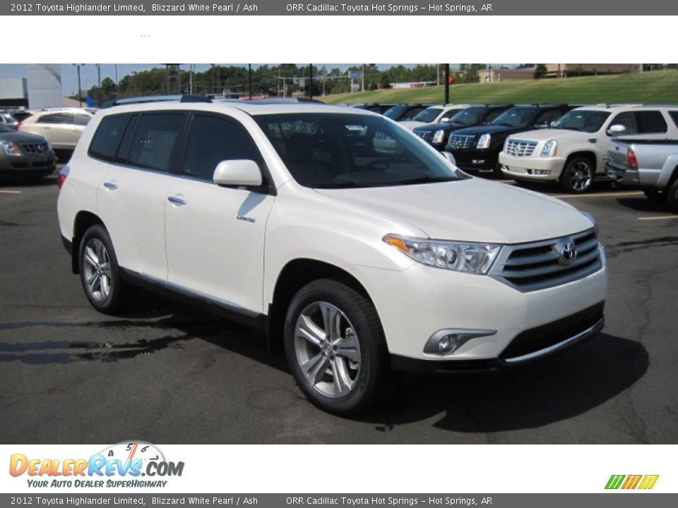 2012 Toyota Highlander Limited Blizzard White Pearl Ash