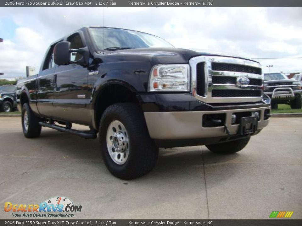 2006 ford f250 super duty xlt crew cab 4x4 black tan. Black Bedroom Furniture Sets. Home Design Ideas