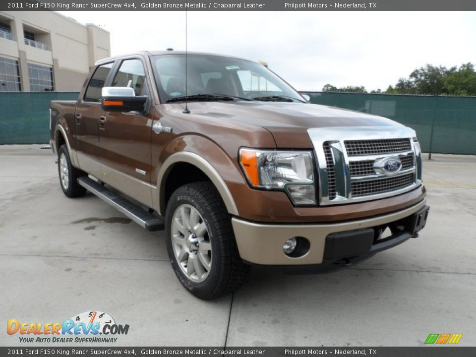 2011 ford f150 king ranch supercrew 4x4 golden bronze metallic chaparral leather photo 1. Black Bedroom Furniture Sets. Home Design Ideas
