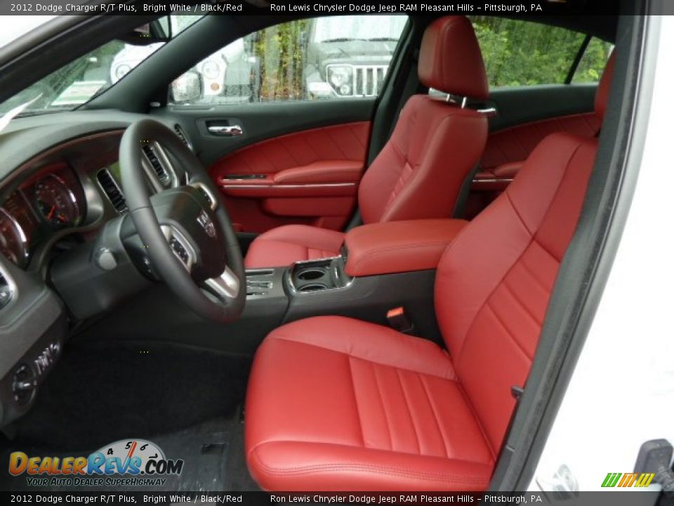 Black Red Interior 2012 Dodge Charger R T Plus Photo 17