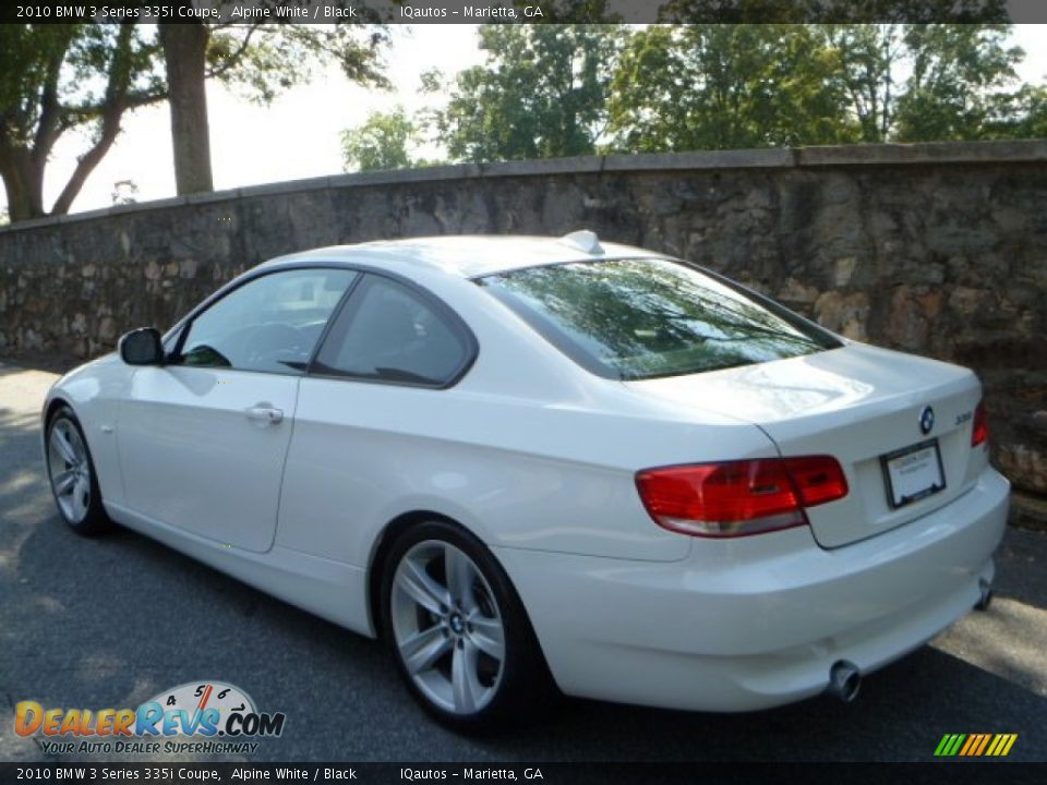 2010 Bmw 3 Series 335i Coupe Alpine White Black Photo 5