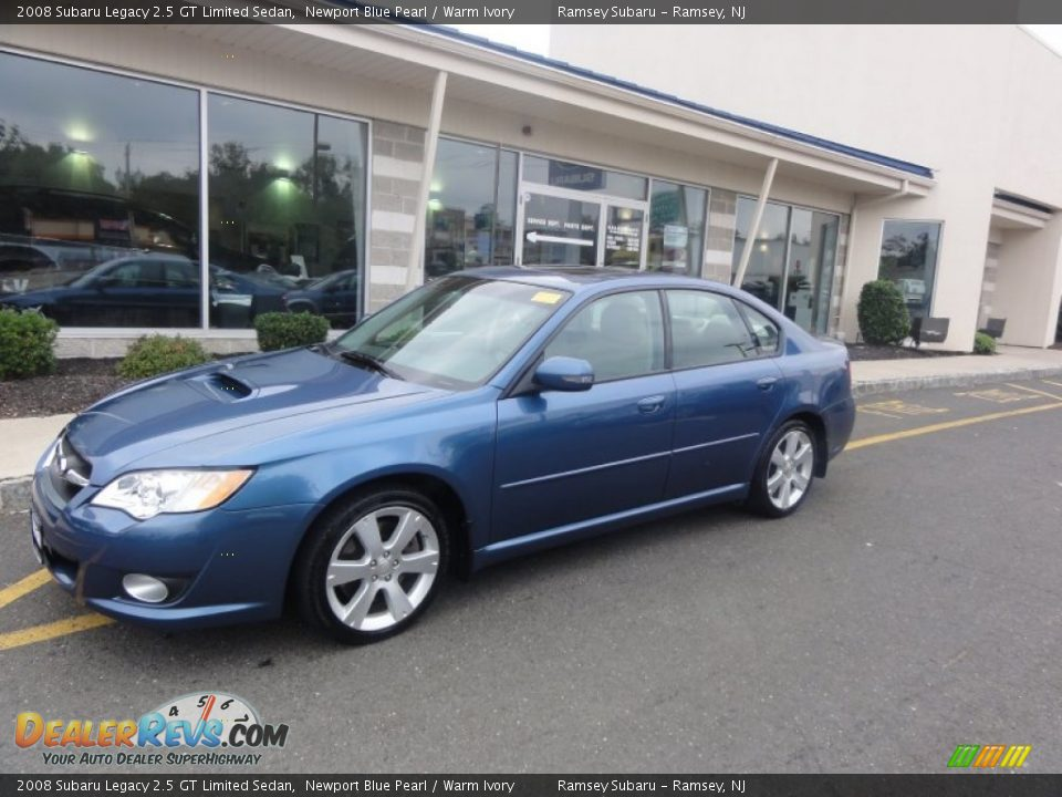 2008 subaru legacy 2 5 gt limited sedan newport blue pearl warm ivory photo 2. Black Bedroom Furniture Sets. Home Design Ideas