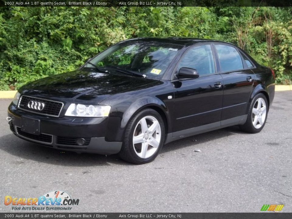 2003 audi a4 1 8t quattro sedan brilliant black ebony. Black Bedroom Furniture Sets. Home Design Ideas