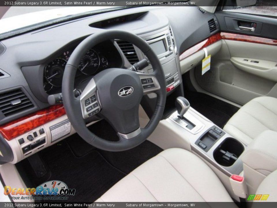 Warm Ivory Interior 2012 Subaru Legacy 3 6r Limited Photo 16