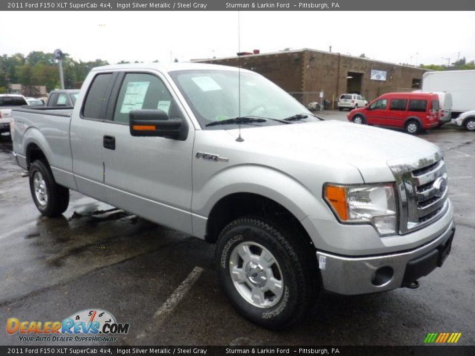 2011 ford f150 xlt supercab 4x4 ingot silver metallic steel gray photo 1. Black Bedroom Furniture Sets. Home Design Ideas