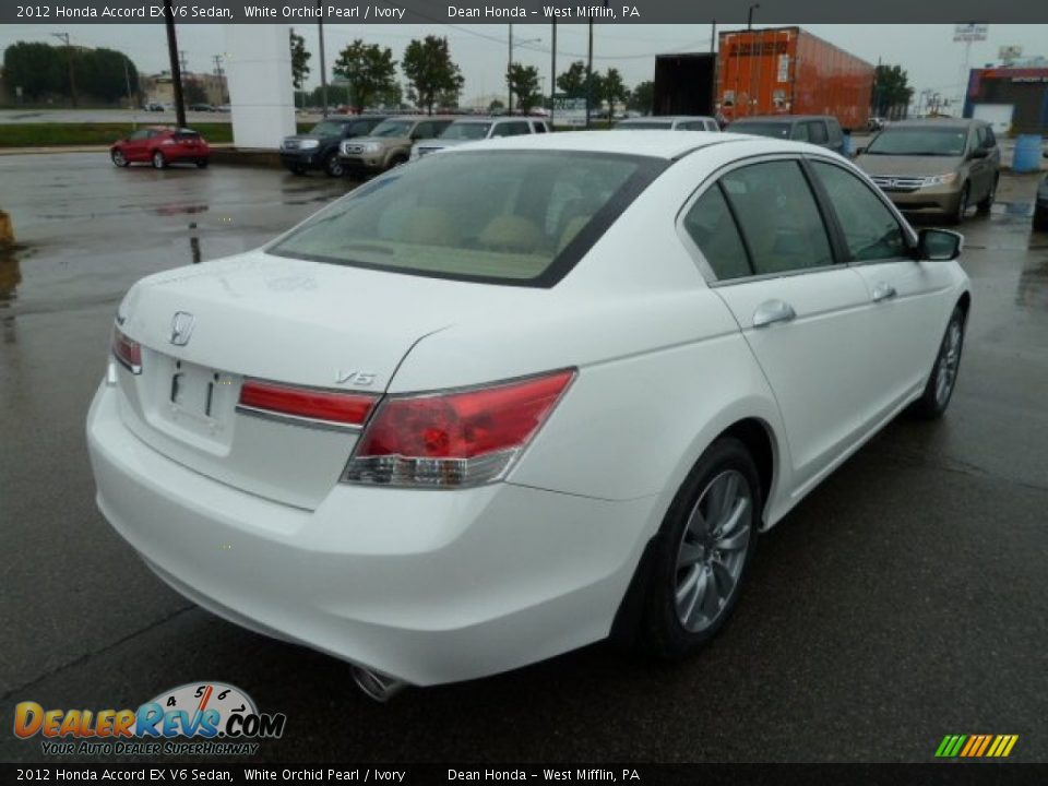 white orchid pearl 2012 honda accord ex v6 sedan photo 5. Black Bedroom Furniture Sets. Home Design Ideas