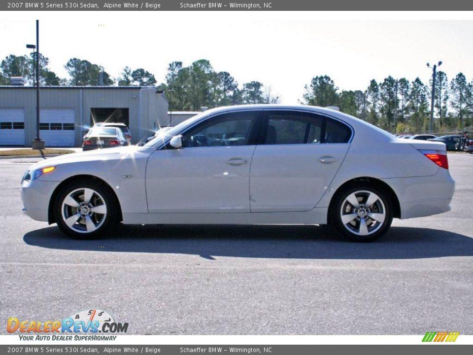 2007 Bmw 5 Series 530i Sedan Alpine White Beige Photo 4