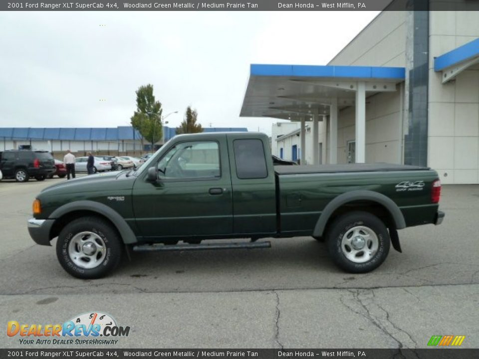 2001 ford ranger xlt supercab 4x4 woodland green metallic medium prairie tan photo 2. Black Bedroom Furniture Sets. Home Design Ideas
