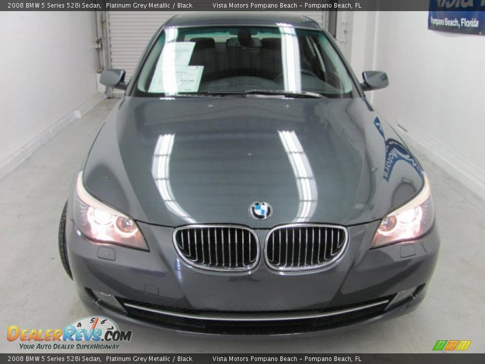 2008 BMW 5 Series 528i Sedan Platinum Grey Metallic / Black Photo #2
