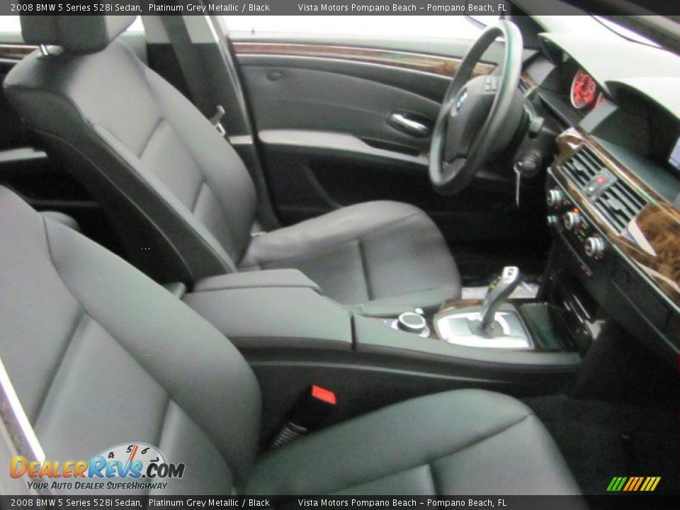 2008 BMW 5 Series 528i Sedan Platinum Grey Metallic / Black Photo #15