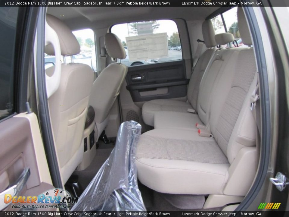 Light Pebble Beige Bark Brown Interior 2012 Dodge Ram 1500 Big Horn Crew Cab Photo 8