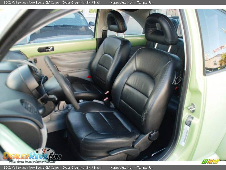 Black Interior 2002 Volkswagen New Beetle Gls Coupe Photo 8