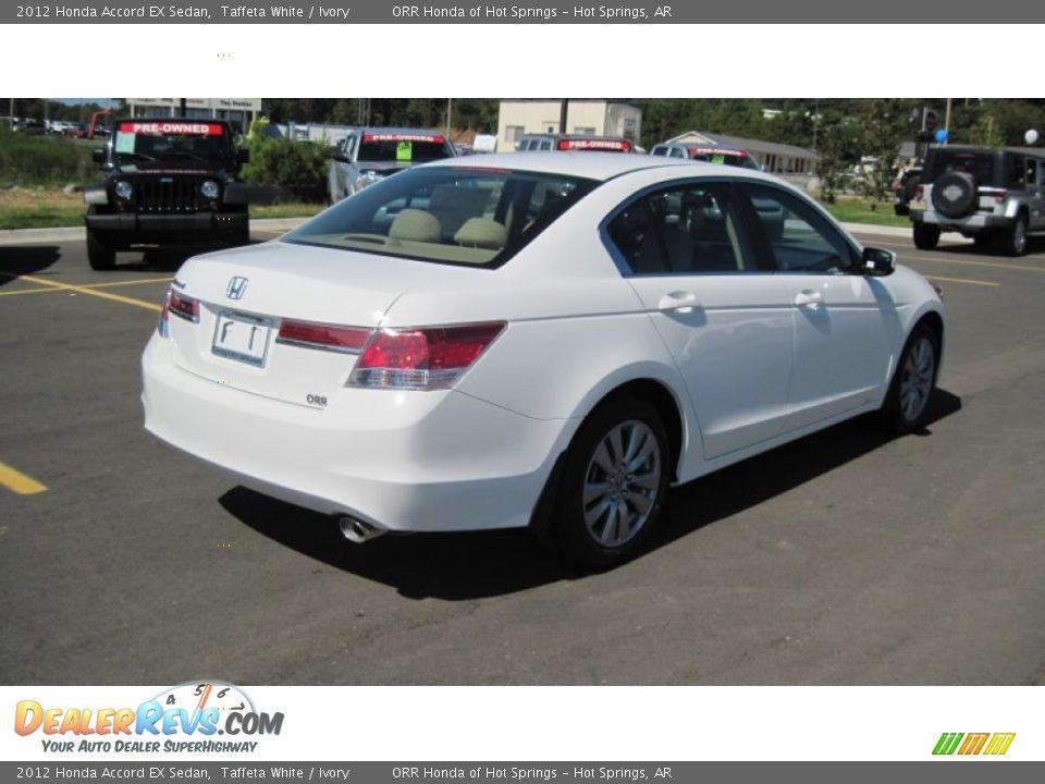 Honda Accord 2018 White >> 2012 Honda Accord EX Sedan Taffeta White / Ivory Photo #5 ...