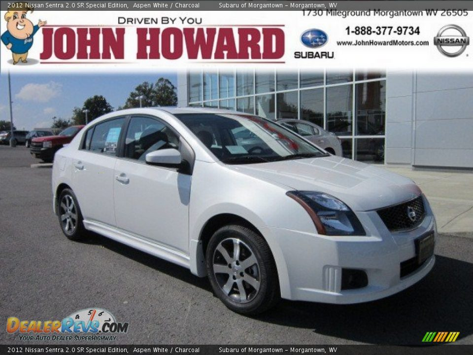 2012 nissan sentra 2 0 sr special edition aspen white charcoal photo 1. Black Bedroom Furniture Sets. Home Design Ideas