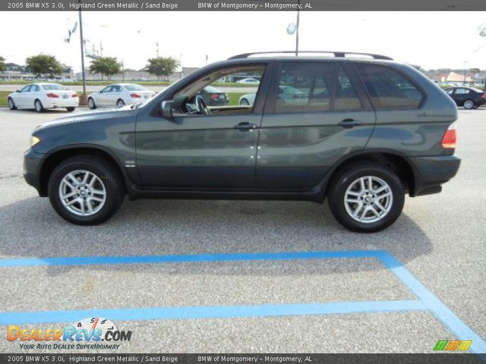 2005 Bmw X5 3 0i Highland Green Metallic Sand Beige