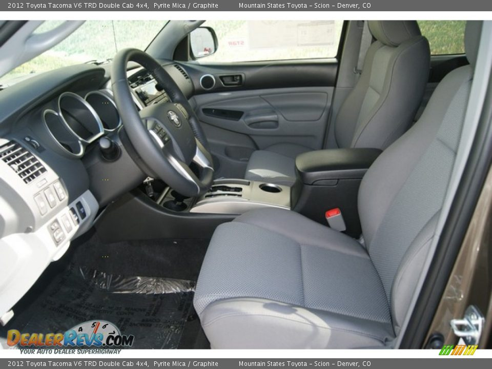 graphite interior 2012 toyota tacoma v6 trd double cab. Black Bedroom Furniture Sets. Home Design Ideas