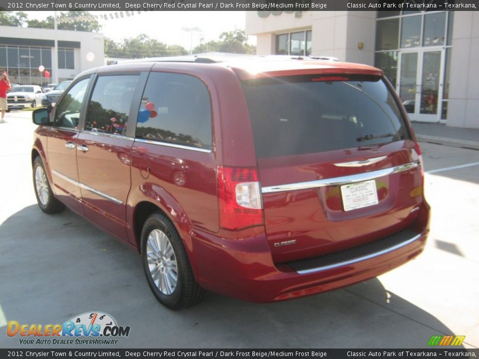 2012 chrysler town country limited deep cherry red crystal pearl dark frost beige medium. Black Bedroom Furniture Sets. Home Design Ideas