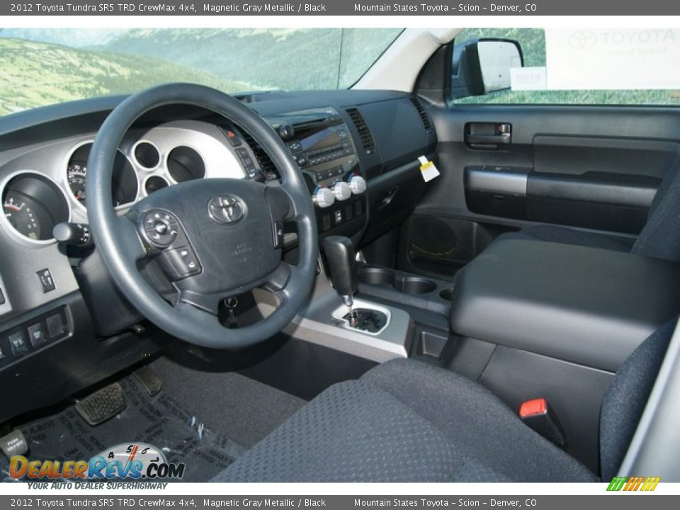 Black Interior - 2012 Toyota Tundra SR5 TRD CrewMax 4x4 Photo #4