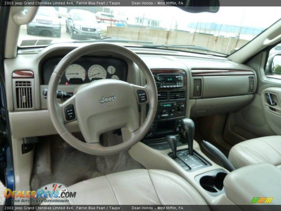 taupe interior 2003 jeep grand cherokee limited 4x4 photo 12 dealerrevs com dealerrevs com