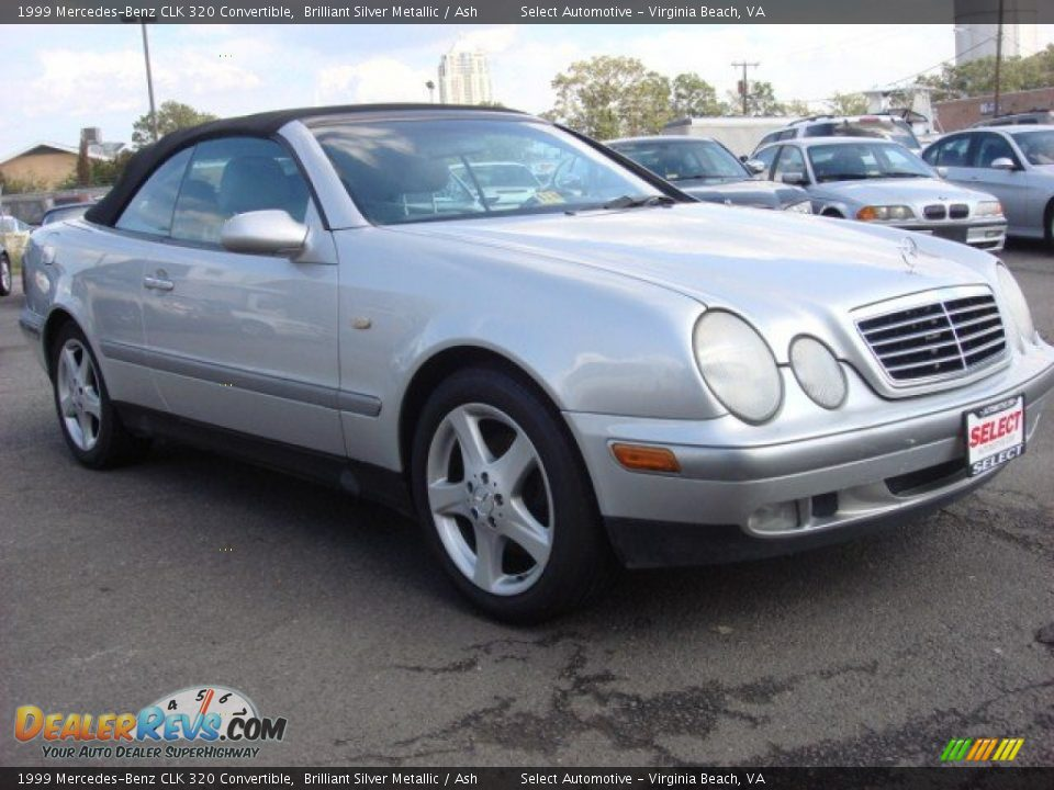 1999 mercedes benz clk 320 convertible brilliant silver metallic ash photo 4. Black Bedroom Furniture Sets. Home Design Ideas