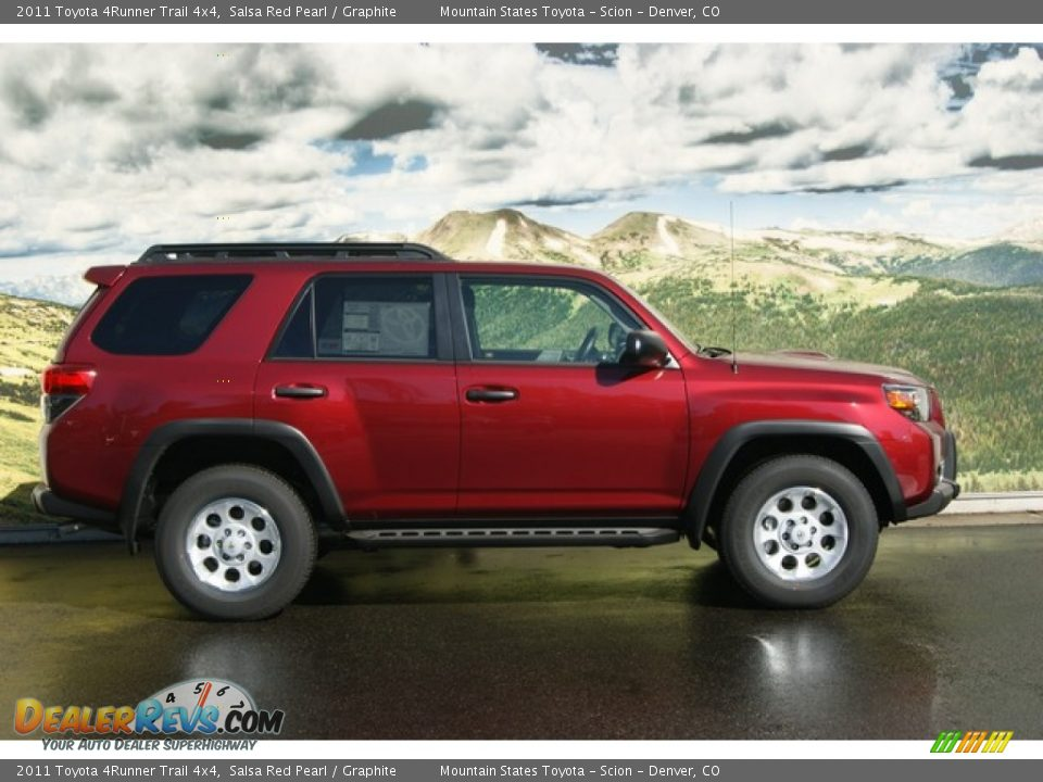 2011 toyota 4runner trail 4x4 salsa red pearl graphite. Black Bedroom Furniture Sets. Home Design Ideas