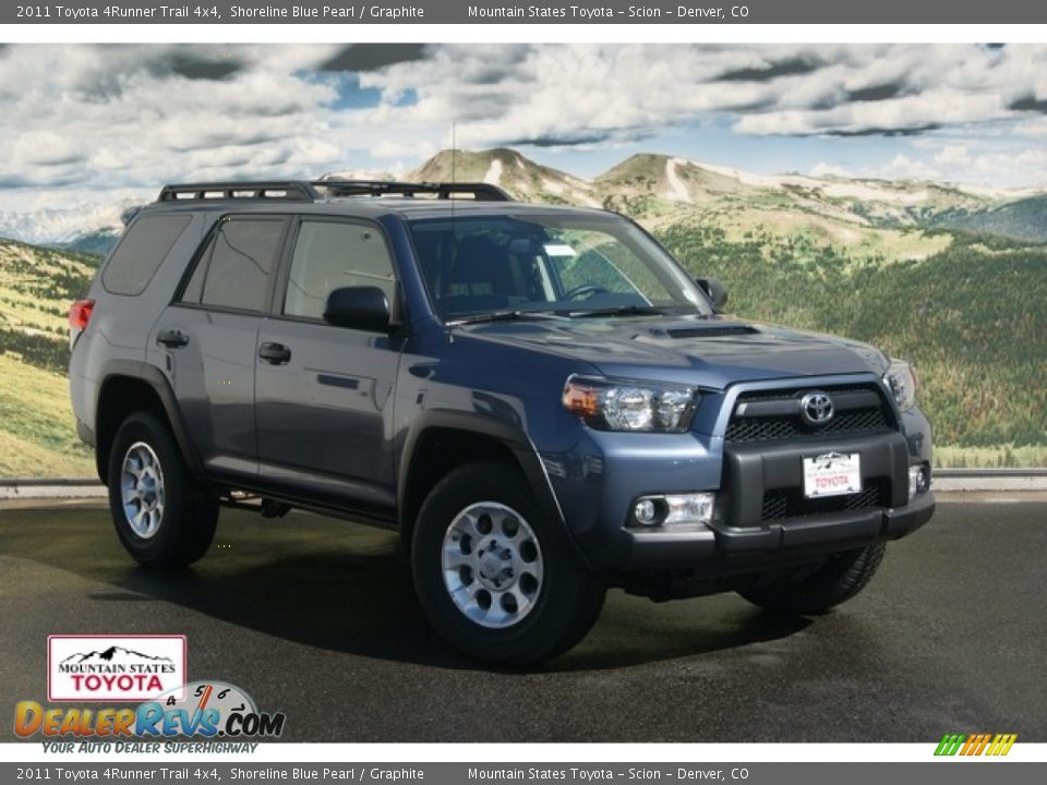 2011 toyota 4runner trail 4x4 shoreline blue pearl. Black Bedroom Furniture Sets. Home Design Ideas