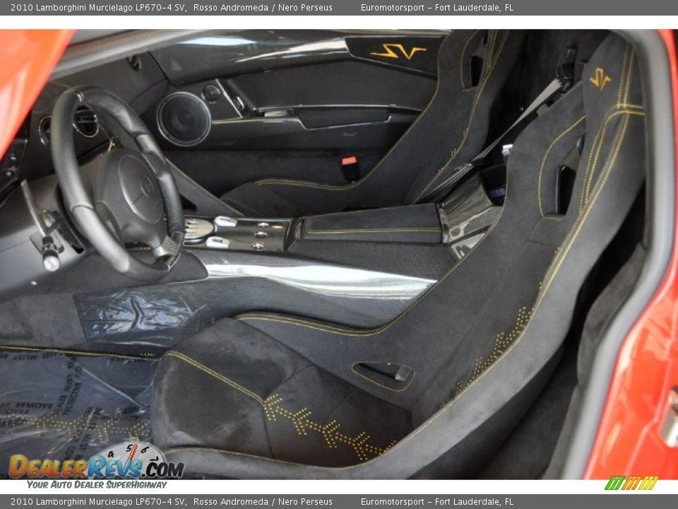 Nero Perseus Interior - 2010 Lamborghini Murcielago LP670 ...
