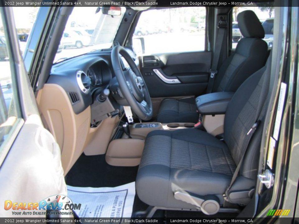 Black Dark Saddle Interior 2012 Jeep Wrangler Unlimited Sahara 4x4 Photo 7